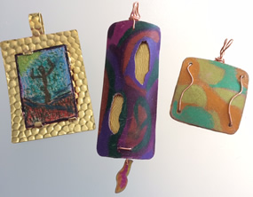 Make a colored pencil on copper pendant at TMAC!!